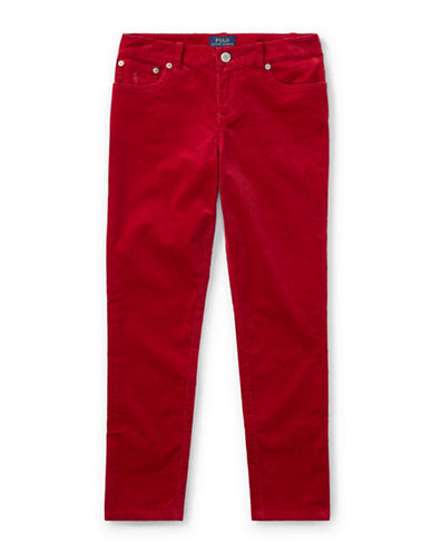 Ralph Lauren Childrenswear Corduroy Skinny Pants-RED-7