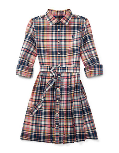 Ralph Lauren Childrenswear Madras Cotton Shirtdress-MULTI-7