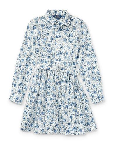 Ralph Lauren Childrenswear Floral Cotton Shirtdress-BLUE-16