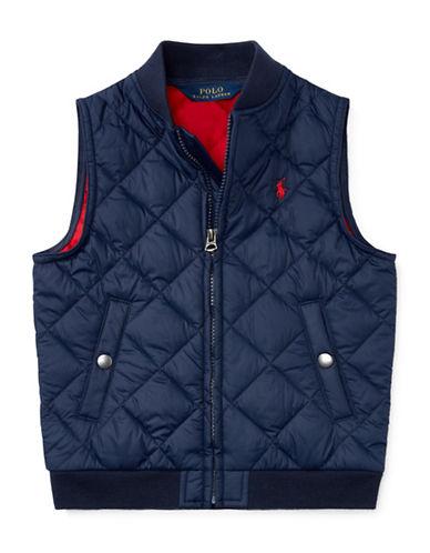 Ralph Lauren Childrenswear Quilted Vest-BLUE-3T