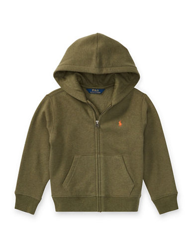Ralph Lauren Childrenswear Fleece Hoodie-GREEN-2T