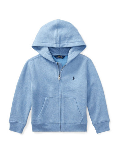 Ralph Lauren Childrenswear Fleece Hoodie-BLUE-3T