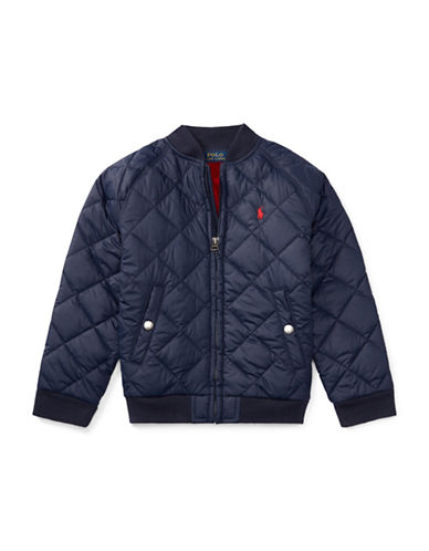 Ralph Lauren Childrenswear Quilted Baseball Jacket-BLUE-5