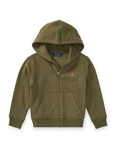 Ralph Lauren Childrenswear Fleece Hoodie-GREEN-6