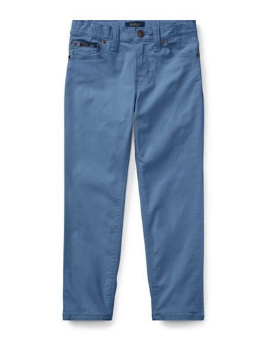 Ralph Lauren Childrenswear Varick Stretch Cotton Pants-BLUE-4