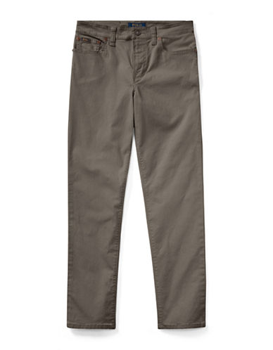 Ralph Lauren Childrenswear Varick Stretch Cotton Pants-GREY-4
