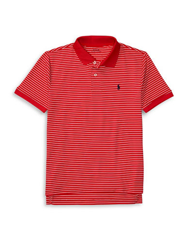 Ralph Lauren Childrenswear Perform Lisle Knit Polo-RED-Small
