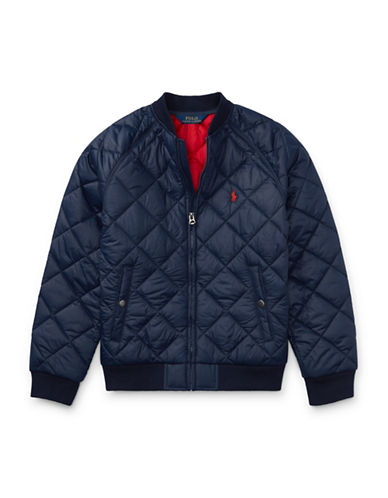 Ralph Lauren Childrenswear Quilted Baseball Jacket-BLUE-Small 89477668_BLUE_Small