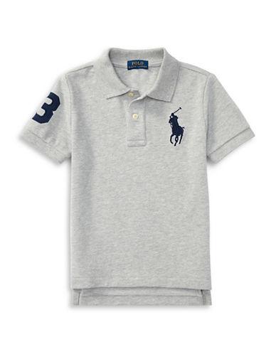 Ralph Lauren Childrenswear Cotton Mesh Polo-GREY-Small