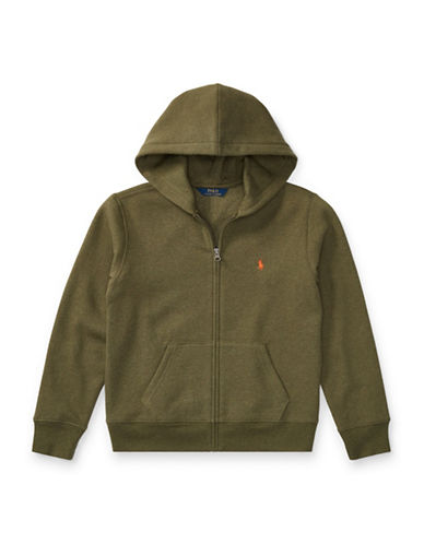 Ralph Lauren Childrenswear Fleece Hoodie-GREEN-Medium