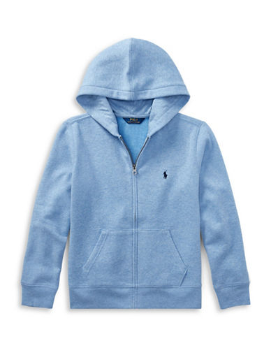 Ralph Lauren Childrenswear Fleece Hoodie-BLUE-Medium