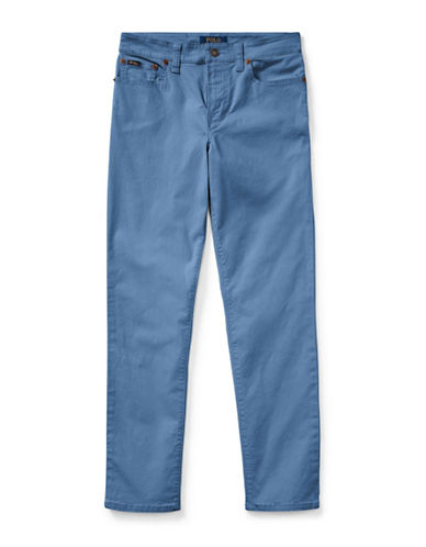 Ralph Lauren Childrenswear Varick Slub Canvas 5-Pocket Pants-BLUE-18
