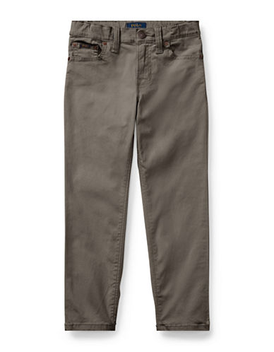 Ralph Lauren Childrenswear Varick Stretch Cotton Pants-GREY-14
