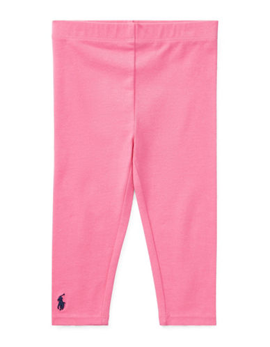 Ralph Lauren Childrenswear Stretch Leggings-PINK-24 Months