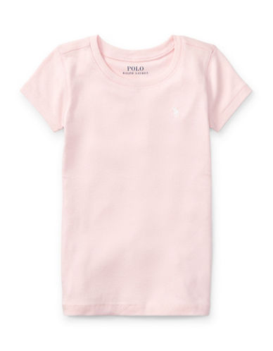 Ralph Lauren Childrenswear Crewneck Tee-PINK-3T