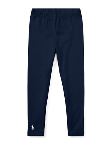 Ralph Lauren Childrenswear Stretch Leggings-NAVY-4T