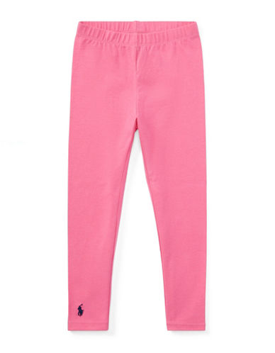 Ralph Lauren Childrenswear Stretch Leggings-BAJA PINK-4T