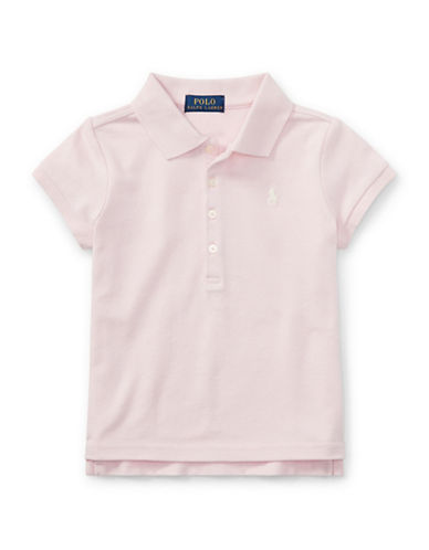 Ralph Lauren Childrenswear Mesh Short-Sleeve Polo Tee-PINK-2T