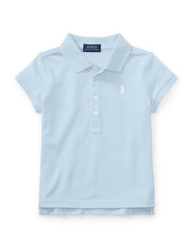Ralph Lauren Childrenswear Mesh Short-Sleeve Polo Tee-ELITE BLUE-2T