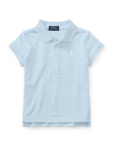 Ralph Lauren Childrenswear Mesh Short-Sleeve Polo Tee-ELITE BLUE-4T