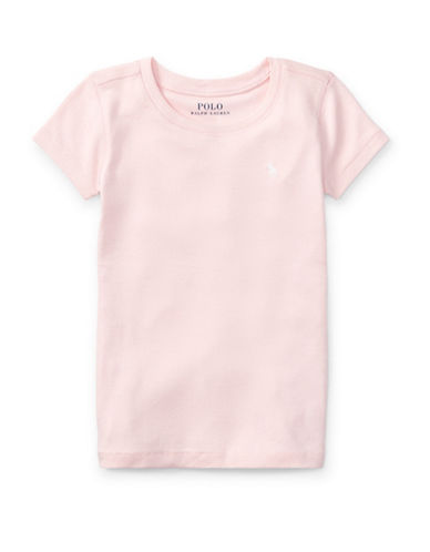 Ralph Lauren Childrenswear Crewneck Tee-PINK-6X