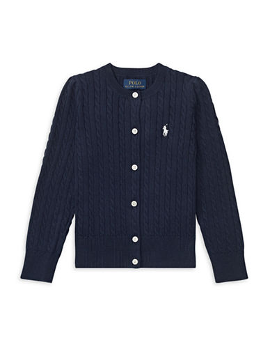 Ralph Lauren Childrenswear Cable-Knit Cotton Cardigan-NAVY-6