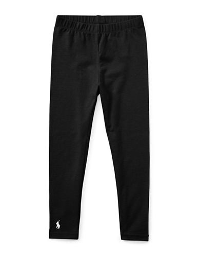 Ralph Lauren Childrenswear Stretch Leggings-POLO BLACK-6X