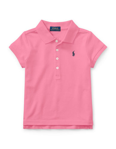 Ralph Lauren Childrenswear Mesh Short-Sleeve Polo-PINK-6X