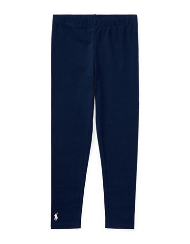 Ralph Lauren Childrenswear Stretch Leggings-NAVY-Small