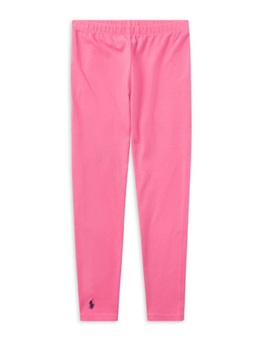 Ralph Lauren Childrenswear Stretch Leggings-PINK-Large