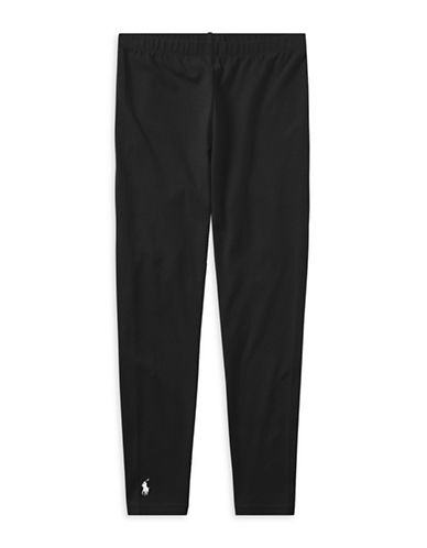Ralph Lauren Childrenswear Stretch Leggings-POLO BLACK-Large