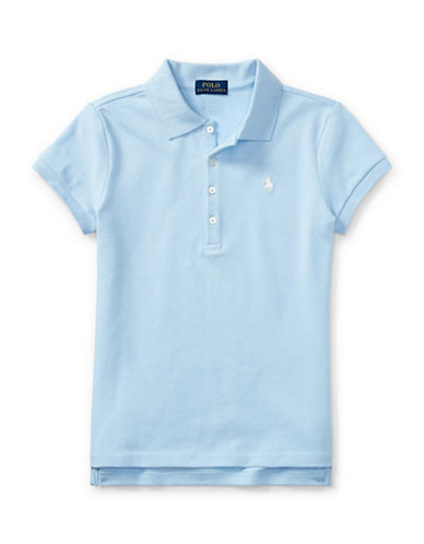 Ralph Lauren Childrenswear Stretch Polo-BLUE-Large