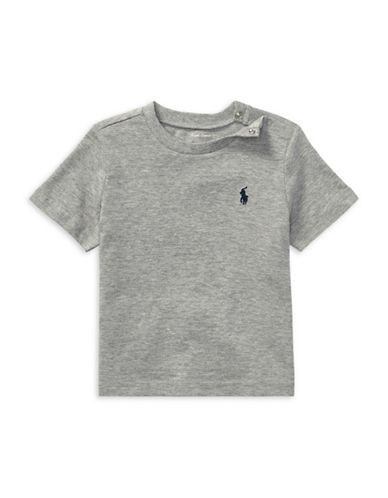 Ralph Lauren Childrenswear Jersey Cotton Tee-GREY-3 Months