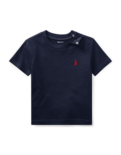 Ralph Lauren Childrenswear Jersey Cotton Tee-BLUE-24 Months