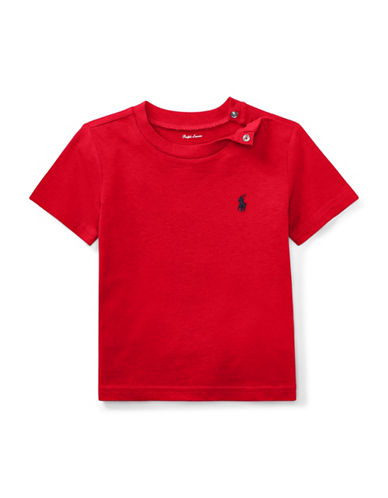 Ralph Lauren Childrenswear Jersey Cotton Tee-RED-18 Months