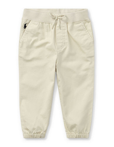 Ralph Lauren Childrenswear Cotton Jogger Pants-BEIGE-18 Months