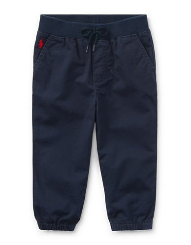 Ralph Lauren Childrenswear Cotton Jogger Pants-BLUE-12 Months