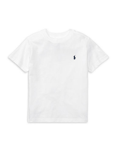 Ralph Lauren Childrenswear Jersey Cotton Tee-WHITE-3