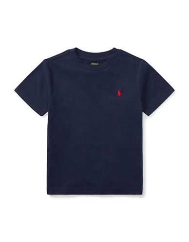 Ralph Lauren Childrenswear Jersey Cotton Tee-BLACK-2