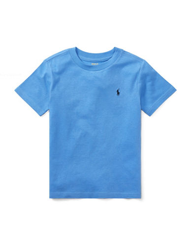 Ralph Lauren Childrenswear Jersey Cotton Tee-BLUE-4