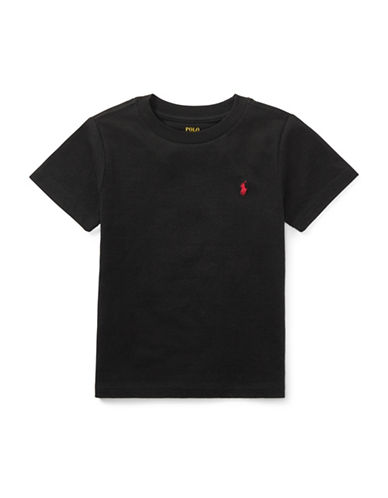 Ralph Lauren Childrenswear Jersey Cotton Tee-BLACK-3