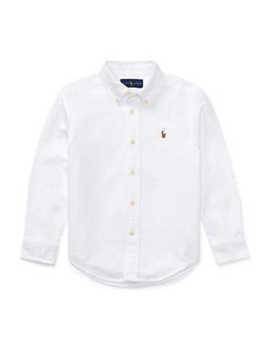 Ralph Lauren Childrenswear Cotton Oxford Sport Shirt-WHITE-2