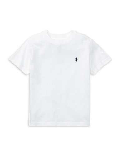 Ralph Lauren Childrenswear Jersey Cotton Tee-WHITE-7