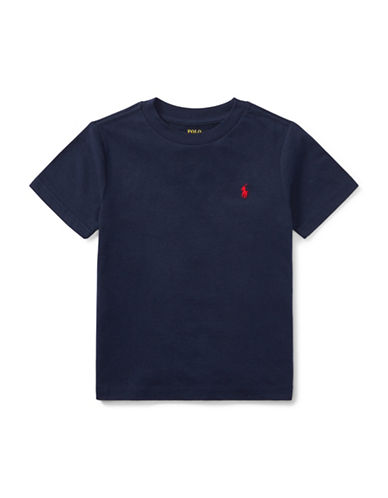Ralph Lauren Childrenswear Jersey Cotton Tee-BLACK-6