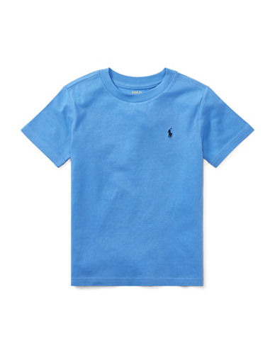 Ralph Lauren Childrenswear Jersey Cotton Tee-BLUE-5