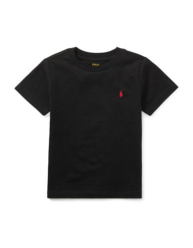 Ralph Lauren Childrenswear Jersey Cotton Tee-BLACK-5
