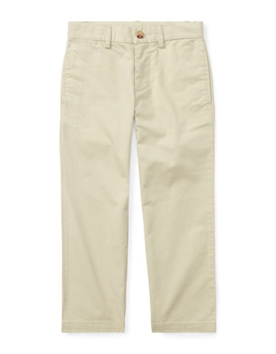 Ralph Lauren Childrenswear Slim-Fit Cotton Chinos-BEIGE-5
