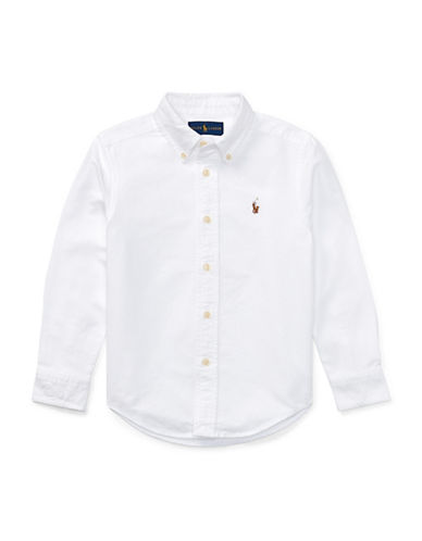 Ralph Lauren Childrenswear Cotton Oxford Sport Shirt-WHITE-5