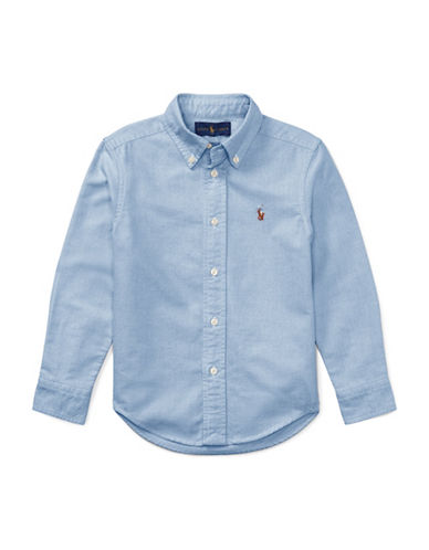 Ralph Lauren Childrenswear Cotton Oxford Sport Shirt-BLUE-5
