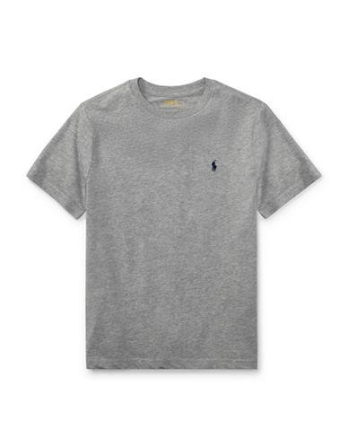 Ralph Lauren Childrenswear Jersey Cotton Tee-GREY-X-Large